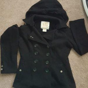 Black pea coat jacket